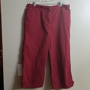 Christopher and banks red capris size 10